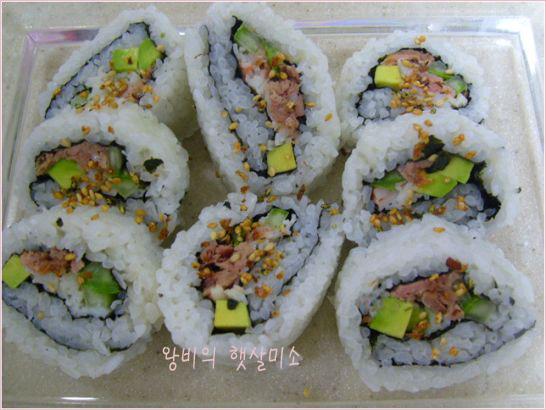 캘리포니아 누드 김밥