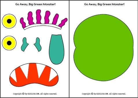Sly image pertaining to go away big green monster printable book