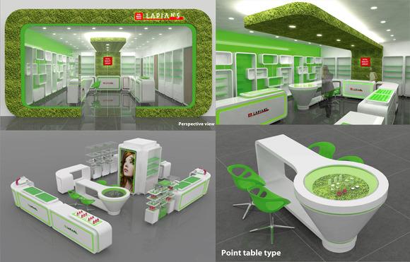 국내화장품 회사 매장 인테리어디자인