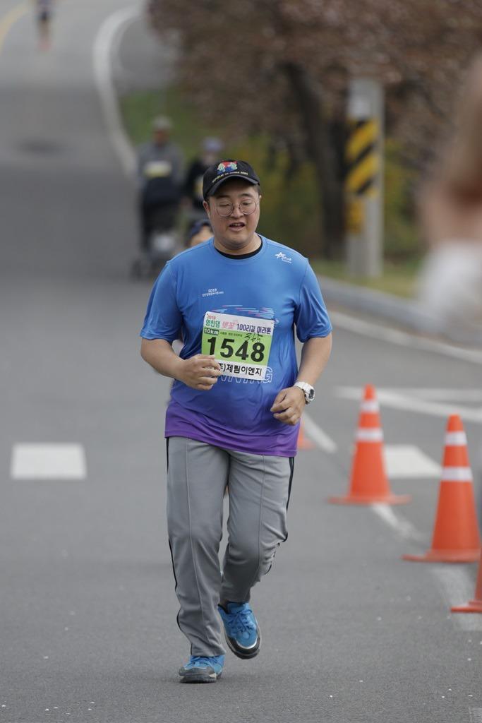 2019 영천댐 벚꽃마라톤대회 골인 (11:51:43 ~ 11:58:48)