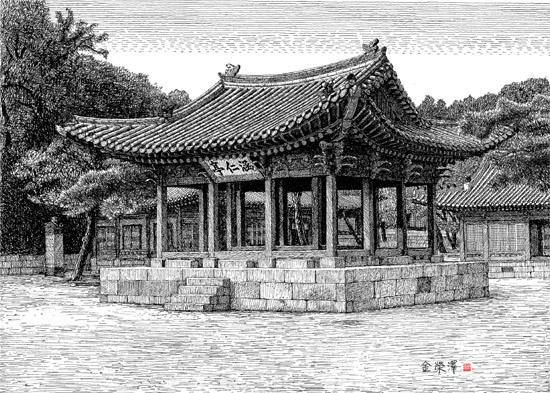 김영택 화백의 세계건축문화재 펜화 기행 Ⅴ -  한국