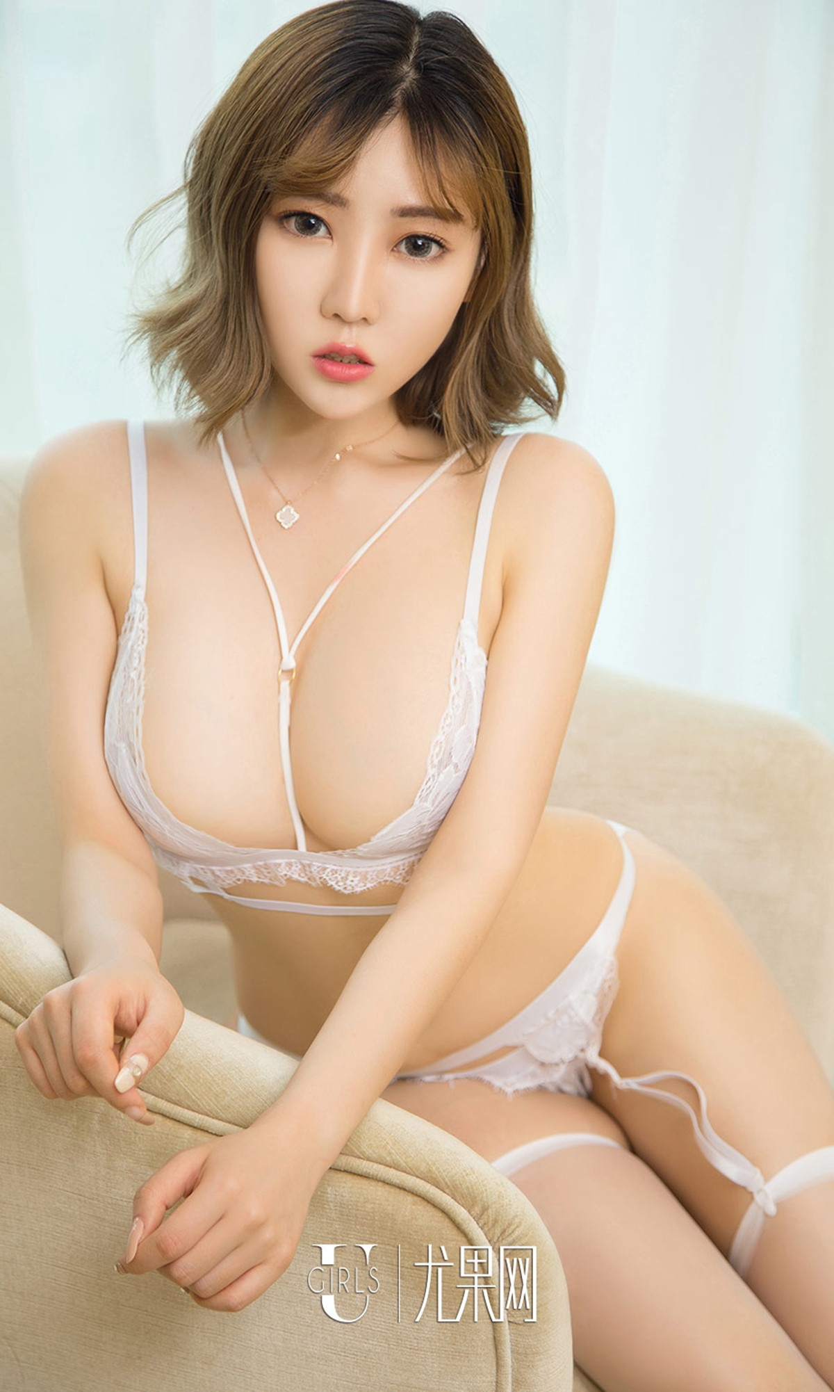 provocative Chinese glamour in see through lingerie
