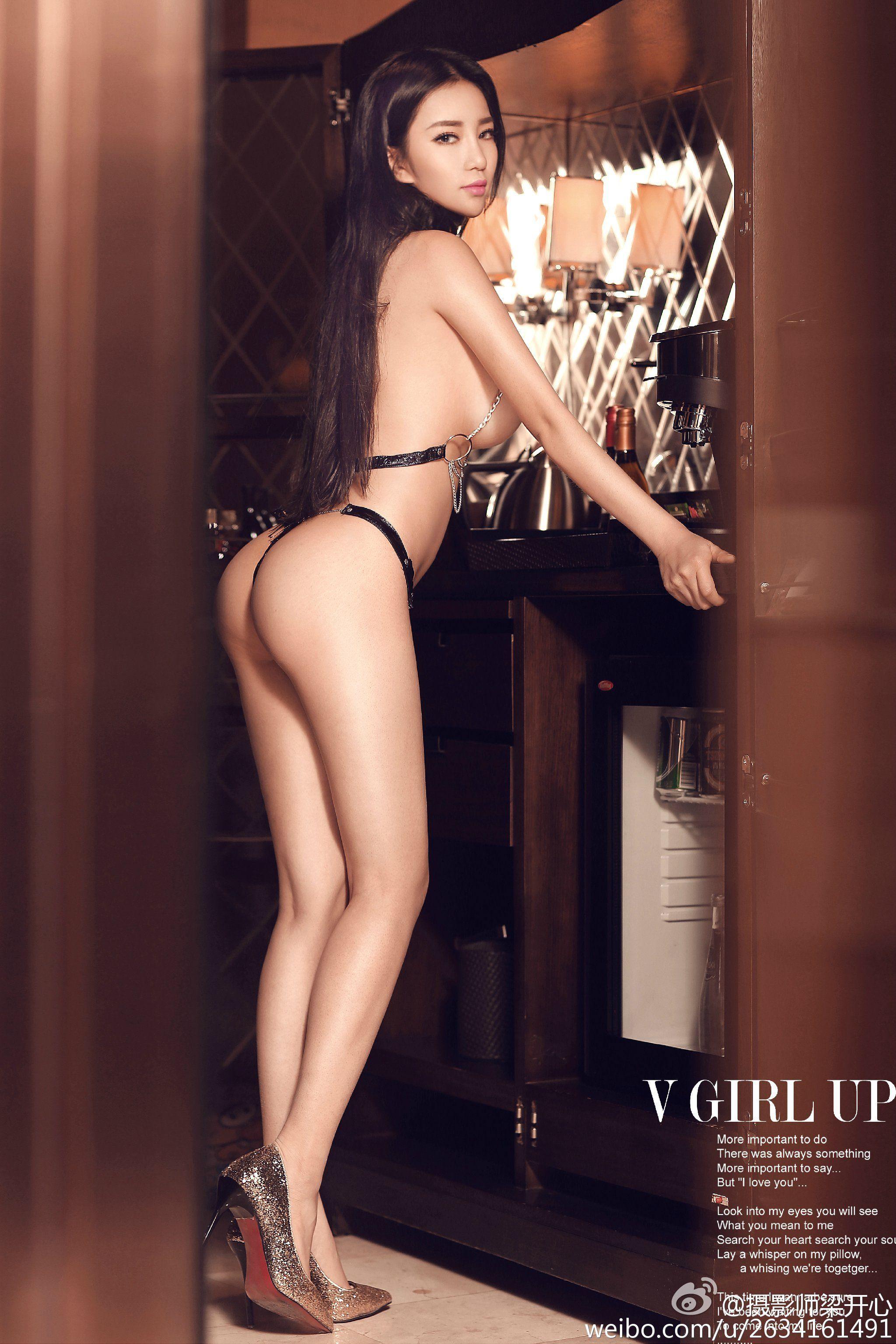 hot Chinese girl wearing sexy belt