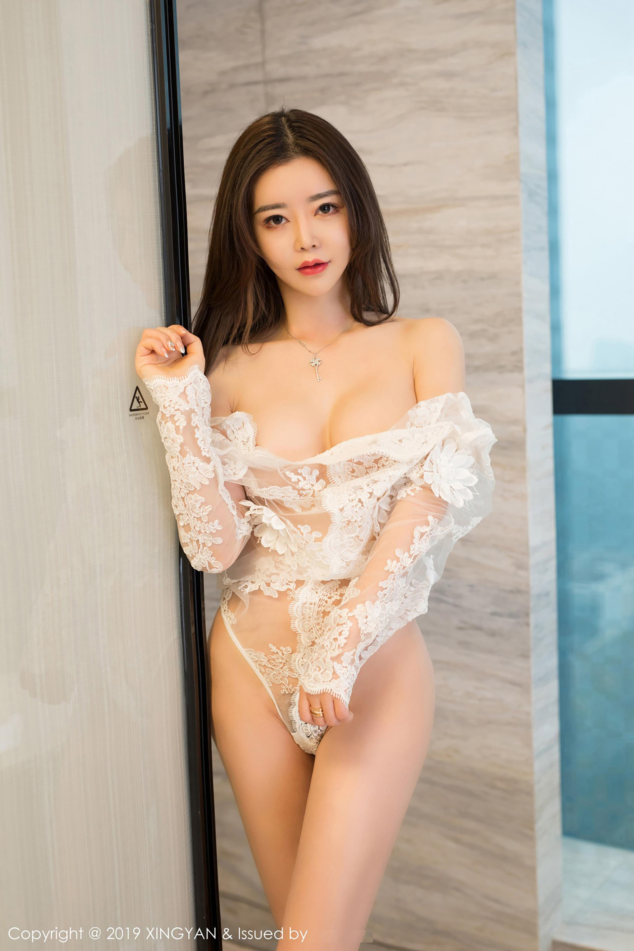 cool Chinese girl in see through lingerie
